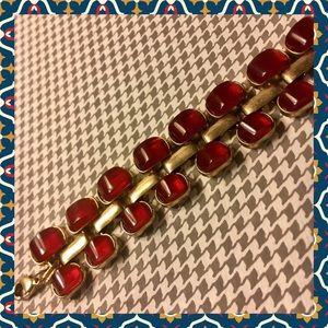🍁 Rusty red and brass bracelet 🍁